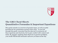 The GRE Cheat Sheet