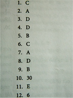 test answers