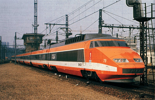 TGV Le Train Grande Vitesse 1st Generation Orange resized 600