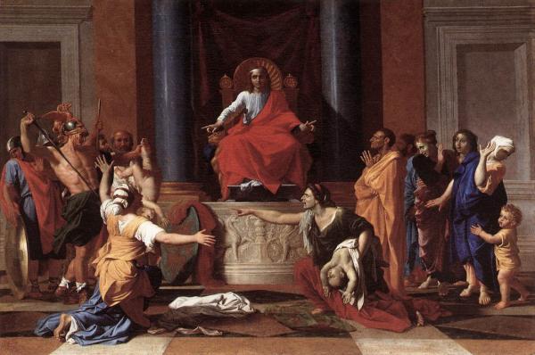 Nicolas Poussin   The Judgment of Solomon   WGA18330 resized 600
