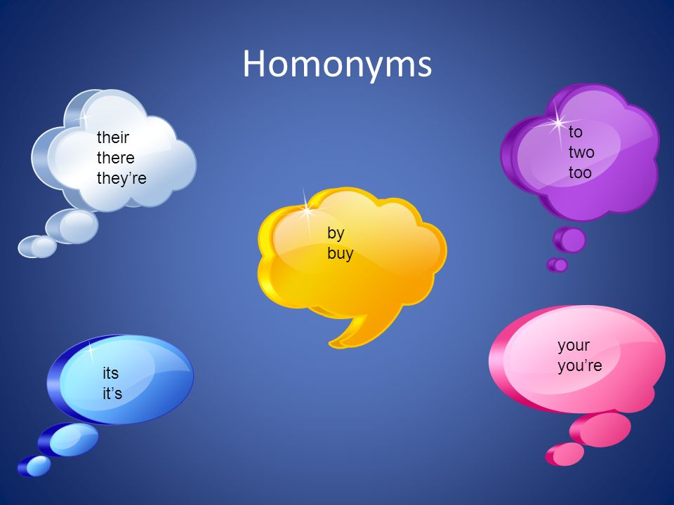Homonyms 2