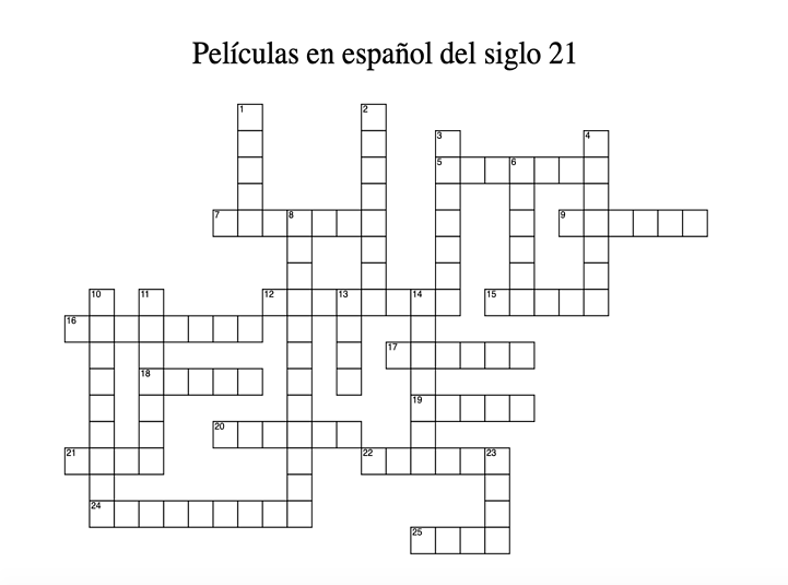 Ways to Practice Spanish Crossword